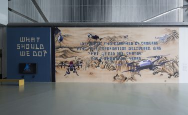 Stone Fables | Mural collage at Proregress: The 12th Shanghai Biennale, China #2018